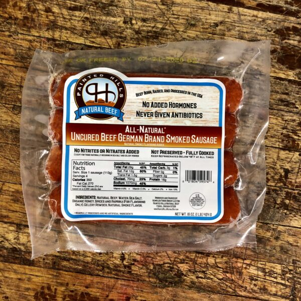 c8a56dffd67ff13629694c16e7fcf1bd56dec1fc 600x600 - All Natural Uncured Beef German Sausage 4/1