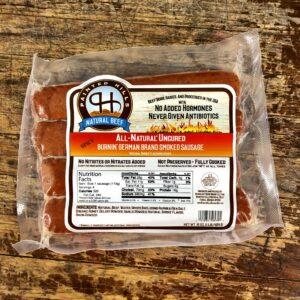 f08cdfcb1a5703c71aa1a57ffd4445b97c8bc9e4 300x300 - All Natural Uncured Burnin' German Sausage 4/1