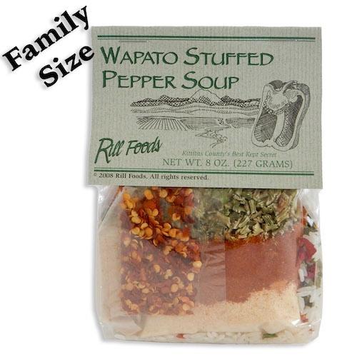 efb00005a16a4005241e263d6664b2ce572a48b3 - Rill Foods Wapatoo stuffed pepper soup (serves four)