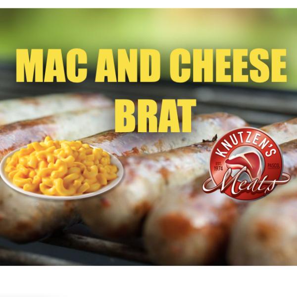 f40bd0a20e09e04586fb0e19aabd11f4c3f25ae7 600x600 - Mac and Cheese Brats (4 per pack)